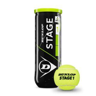 DUNLOP Mini Tennis STAGE 1 grün Tennisbälle 3er Dose