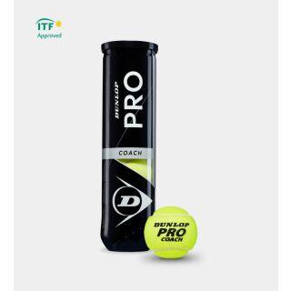 DUNLOP Pro Coach 4er Dose Tennisbälle