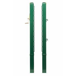 Tennisnetzpfosten USA Stahl TP 80 cm grün