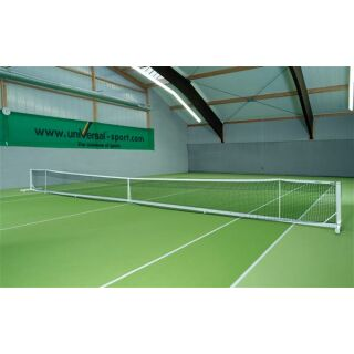 Tennisnetzanlage Court Royal transp. II weiß