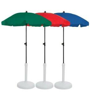 Schirm 150 cm dunkelgrün 8-tlg.