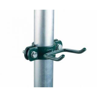 Handbesenhalter, grün mit 2 Haken, für 60 mm