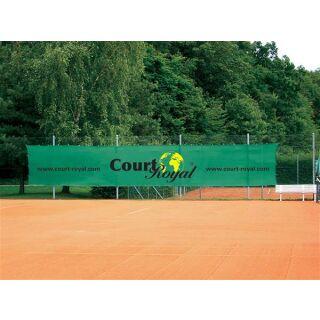 Werbesichtblende SUPER Court Royal hellgrün