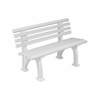 Bank Comfort PVC 120 cm weiß