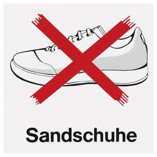 """Verbotsschild """"Sandschuhe"""""""